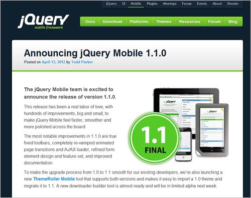 jQuery Mobile 1.1.0
